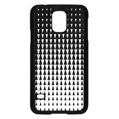 Triangle Black White Wave Chevron Samsung Galaxy S5 Case (black) by Mariart