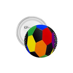 Team Soccer Coming Out Tease Ball Color Rainbow Sport 1 75  Buttons by Mariart