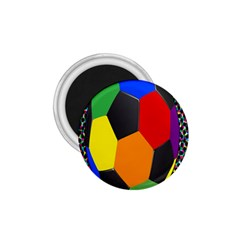 Team Soccer Coming Out Tease Ball Color Rainbow Sport 1 75  Magnets by Mariart
