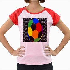 Team Soccer Coming Out Tease Ball Color Rainbow Sport Women s Cap Sleeve T-shirt by Mariart