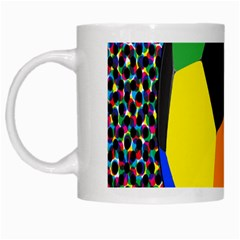 Team Soccer Coming Out Tease Ball Color Rainbow Sport White Mugs
