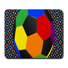 Team Soccer Coming Out Tease Ball Color Rainbow Sport Large Mousepads by Mariart