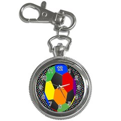 Team Soccer Coming Out Tease Ball Color Rainbow Sport Key Chain Watches by Mariart