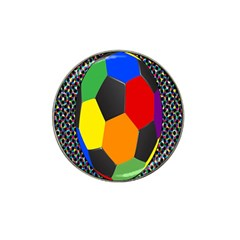 Team Soccer Coming Out Tease Ball Color Rainbow Sport Hat Clip Ball Marker (4 Pack) by Mariart