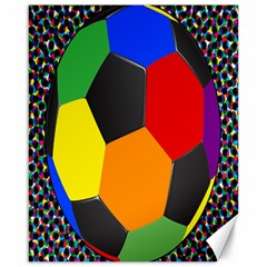 Team Soccer Coming Out Tease Ball Color Rainbow Sport Canvas 16  X 20   by Mariart