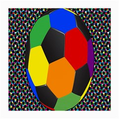 Team Soccer Coming Out Tease Ball Color Rainbow Sport Medium Glasses Cloth (2 Side) by Mariart
