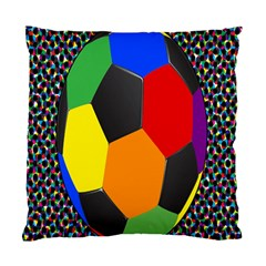 Team Soccer Coming Out Tease Ball Color Rainbow Sport Standard Cushion Case (two Sides) by Mariart