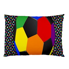 Team Soccer Coming Out Tease Ball Color Rainbow Sport Pillow Case by Mariart