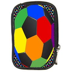 Team Soccer Coming Out Tease Ball Color Rainbow Sport Compact Camera Cases by Mariart