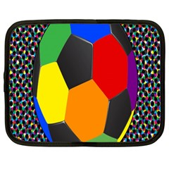 Team Soccer Coming Out Tease Ball Color Rainbow Sport Netbook Case (xxl)  by Mariart