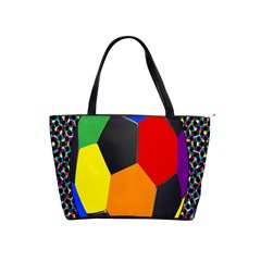 Team Soccer Coming Out Tease Ball Color Rainbow Sport Shoulder Handbags by Mariart
