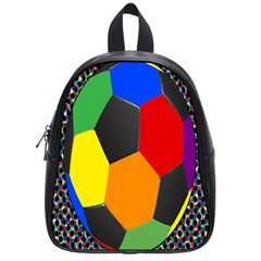 Team Soccer Coming Out Tease Ball Color Rainbow Sport School Bags (small)  by Mariart