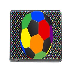 Team Soccer Coming Out Tease Ball Color Rainbow Sport Memory Card Reader (square) by Mariart