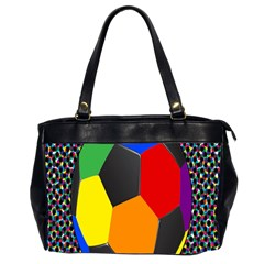 Team Soccer Coming Out Tease Ball Color Rainbow Sport Office Handbags (2 Sides)  by Mariart
