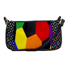Team Soccer Coming Out Tease Ball Color Rainbow Sport Shoulder Clutch Bags by Mariart