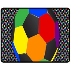 Team Soccer Coming Out Tease Ball Color Rainbow Sport Fleece Blanket (medium)  by Mariart