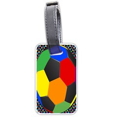 Team Soccer Coming Out Tease Ball Color Rainbow Sport Luggage Tags (two Sides) by Mariart