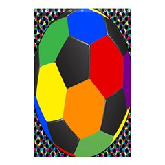 Team Soccer Coming Out Tease Ball Color Rainbow Sport Shower Curtain 48  X 72  (small)  by Mariart