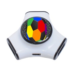 Team Soccer Coming Out Tease Ball Color Rainbow Sport 3 Port Usb Hub by Mariart