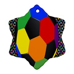 Team Soccer Coming Out Tease Ball Color Rainbow Sport Snowflake Ornament (two Sides) by Mariart