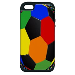 Team Soccer Coming Out Tease Ball Color Rainbow Sport Apple Iphone 5 Hardshell Case (pc+silicone) by Mariart