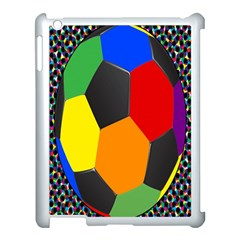 Team Soccer Coming Out Tease Ball Color Rainbow Sport Apple Ipad 3/4 Case (white) by Mariart