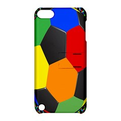 Team Soccer Coming Out Tease Ball Color Rainbow Sport Apple Ipod Touch 5 Hardshell Case With Stand by Mariart