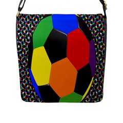 Team Soccer Coming Out Tease Ball Color Rainbow Sport Flap Messenger Bag (l)  by Mariart