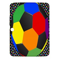 Team Soccer Coming Out Tease Ball Color Rainbow Sport Samsung Galaxy Tab 3 (10 1 ) P5200 Hardshell Case  by Mariart