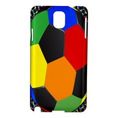 Team Soccer Coming Out Tease Ball Color Rainbow Sport Samsung Galaxy Note 3 N9005 Hardshell Case by Mariart