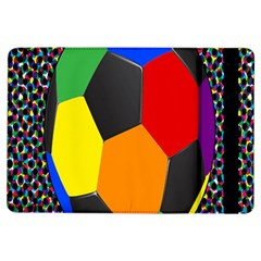 Team Soccer Coming Out Tease Ball Color Rainbow Sport Ipad Air Flip by Mariart