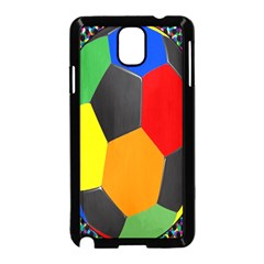 Team Soccer Coming Out Tease Ball Color Rainbow Sport Samsung Galaxy Note 3 Neo Hardshell Case (black) by Mariart