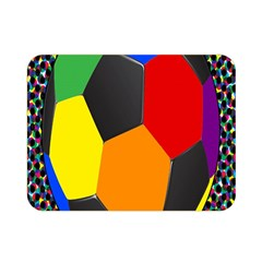 Team Soccer Coming Out Tease Ball Color Rainbow Sport Double Sided Flano Blanket (mini)  by Mariart