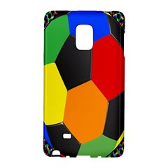 Team Soccer Coming Out Tease Ball Color Rainbow Sport Galaxy Note Edge by Mariart