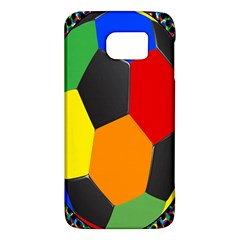 Team Soccer Coming Out Tease Ball Color Rainbow Sport Galaxy S6 by Mariart