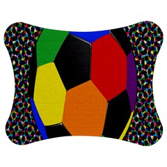 Team Soccer Coming Out Tease Ball Color Rainbow Sport Jigsaw Puzzle Photo Stand (bow) by Mariart