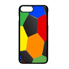 Team Soccer Coming Out Tease Ball Color Rainbow Sport Apple Iphone 7 Plus Seamless Case (black) by Mariart