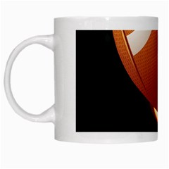 Super Football American Sport Fire White Mugs by Mariart