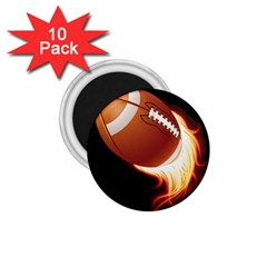 Super Football American Sport Fire 1 75  Magnets (10 Pack)  by Mariart