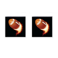 Super Football American Sport Fire Cufflinks (square)