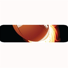 Super Football American Sport Fire Large Bar Mats by Mariart