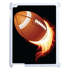 Super Football American Sport Fire Apple Ipad 2 Case (white) by Mariart