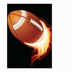 Super Football American Sport Fire Small Garden Flag (two Sides) by Mariart