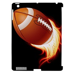 Super Football American Sport Fire Apple Ipad 3/4 Hardshell Case (compatible With Smart Cover) by Mariart