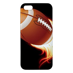 Super Football American Sport Fire Apple Iphone 5 Premium Hardshell Case by Mariart