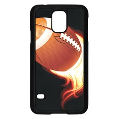 Super Football American Sport Fire Samsung Galaxy S5 Case (black) by Mariart
