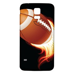 Super Football American Sport Fire Samsung Galaxy S5 Back Case (white)