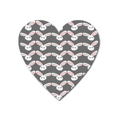 Tagged Bunny Illustrator Rabbit Animals Face Heart Magnet by Mariart