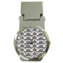 Tagged Bunny Illustrator Rabbit Animals Face Money Clip Watches by Mariart