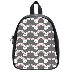Tagged Bunny Illustrator Rabbit Animals Face School Bags (small)